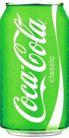 Neon Green Coke Can