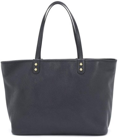 pebbled leather shopping tote