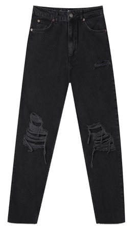black Ripped mom jeans - Women's Just in   Stradivarius United States