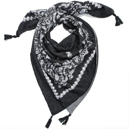 Black Bandana Print Knit Scarf - Scarves, Hats & Gloves - Hallmark