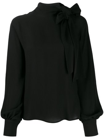 Shop black Valentino pussybow blouse with Express Delivery - Farfetch