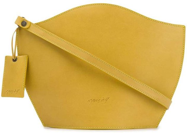 curved-edge cross-body bag