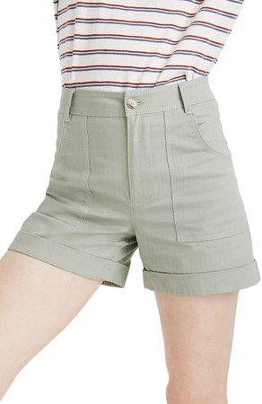 High Waist Cuffed Shorts