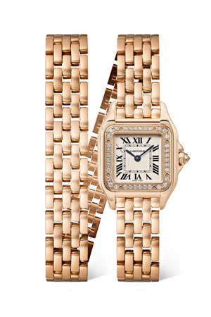 Cartier | Panthère de Cartier 22mm small 18-karat pink gold and diamond watch | NET-A-PORTER.COM