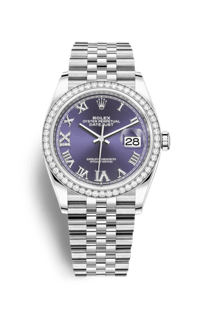 Relógio Rolex Datejust 36: Rolesor branco - combinação de aço Oystersteel e ouro branco 18 quilates – M126284RBR-0013