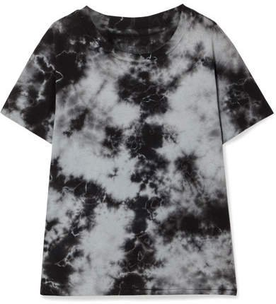 Brady Distressed Tie-dyed Cotton-jersey T-shirt - Gray