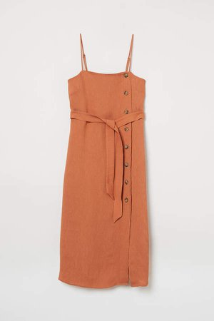 Dress with Buttons - Orange