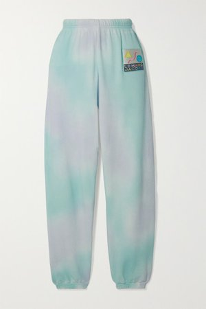 THE Marc Jacobs | Pantalon de survêtement en molleton de coton tie & dye à appliqué | NET-A-PORTER.COM