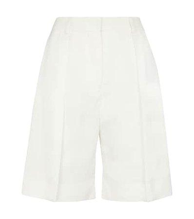 Emilia Wickstead - Elliot floral taffeta faille shorts | Mytheresa