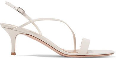 55 Leather Slingback Sandals - Off-white
