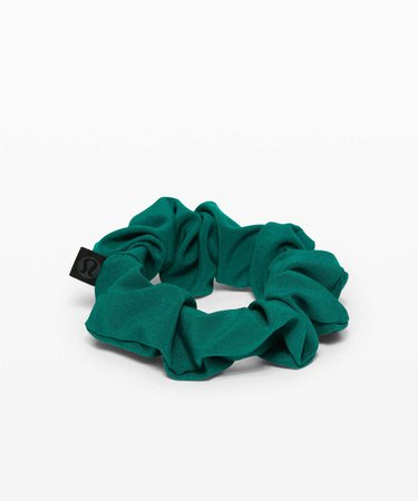 Lululemon Uplifting Scrunchie - Teal Green - lulu fanatics