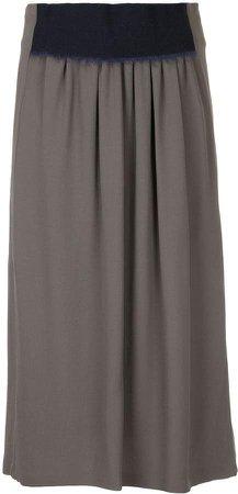 contrast waistband skirt