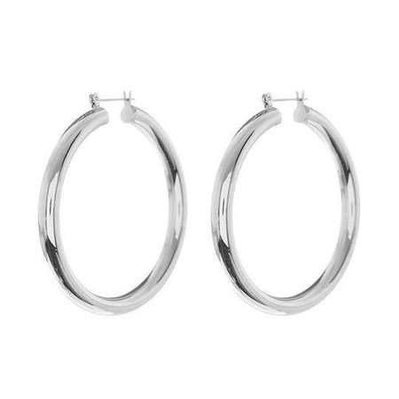 Amalfi Tube Hoops- Silver by Luv Aj | Spring - Free Shipping. On Everything