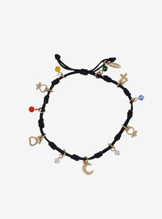 Sailor Moon Symbols Cord Bracelet