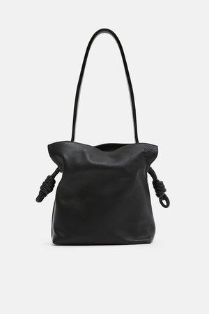 Flamenco Knot Small Bag - Black – The Line