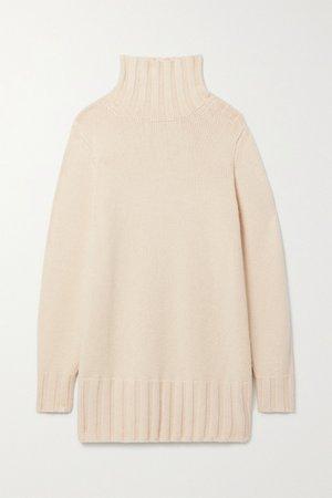 Cream Paola cashmere turtleneck sweater | Khaite | NET-A-PORTER