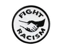 FIGHT RACISM IRON ON PATCH