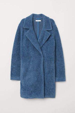 Knit Coat - Blue