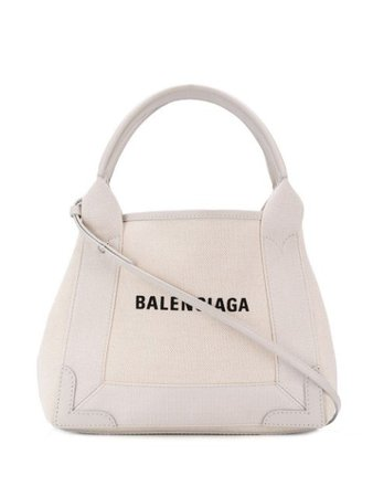 ShopBalenciaga Navy Cabas XS tote bag with Express Delivery - Farfetch
