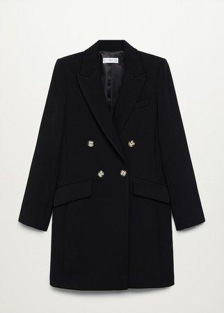 Masculine structured coat - Women   Mango USA