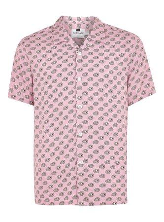 Pink Geometric Short Sleeve Shirt - TOPMAN USA