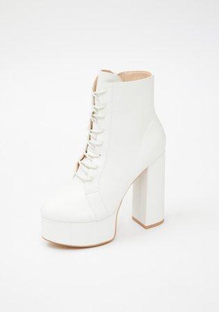 Platform Heeled Ankle Boots