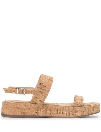 Buckled-Strap Flat Sandals