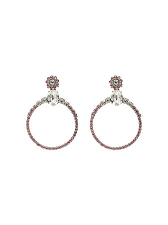 Miu Miu Embellished Hoop Earrings | Farfetch.com