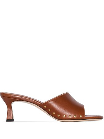 Shop brown Wandler stud detail 55mm sandals with Express Delivery - Farfetch