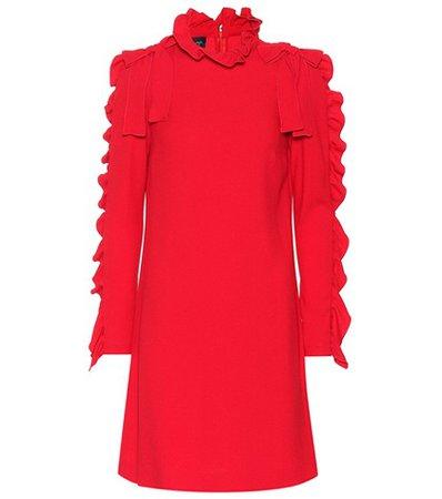 Ruffled crêpe dress
