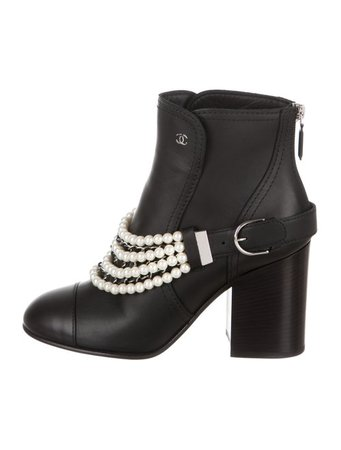 Chanel 2018 Embellished Ankle Boots w/ Tags - Shoes - CHA306278 | The RealReal