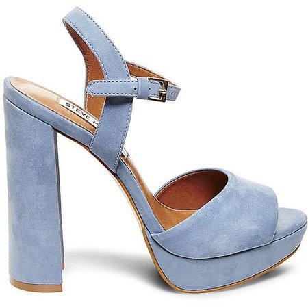 Light Blue Platform Sandal Heels