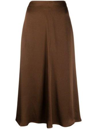 midi skirt brown
