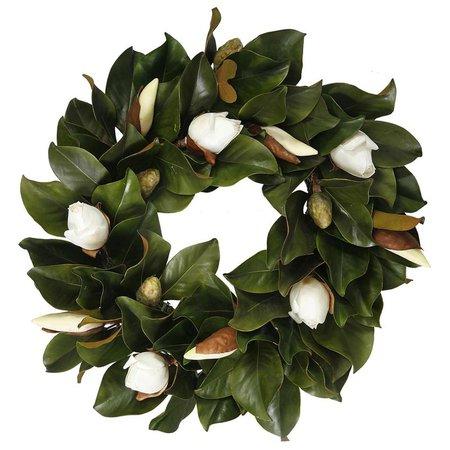 "Magnolia 24"" Bud Plastic Wreath & Reviews | Joss & Main"