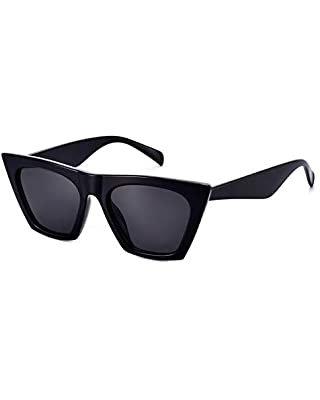 Amazon.com: FEISEDY Vintage Square Cat Eye Sunglasses Women Trendy Cateye Sunglasses B2473: Clothing