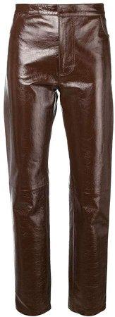 Paris patent leather pants