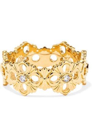 Buccellati | Opera Eternelle 18-karat gold diamond ring | NET-A-PORTER.COM
