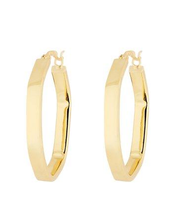 Argento Vivo Hexagon Hoop Earrings | INTERMIX®