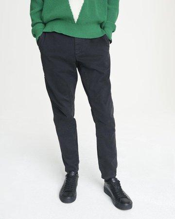 Men's Articulated Black Chino Pants | rag & bone
