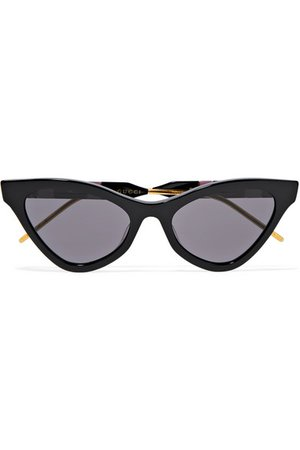 Gucci | Cat-eye acetate, gold-tone and enamel sunglasses | NET-A-PORTER.COM
