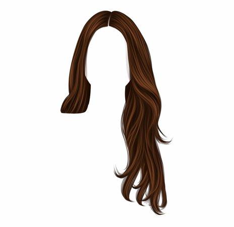 png aesthetic brown hair
