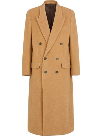 Fendi double-breasted coat brown FF0349ADTC - Farfetch