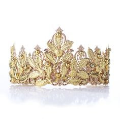 Arabelle gold wedding tiara