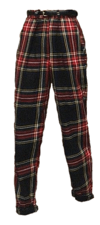 aesthetic checkered pants png