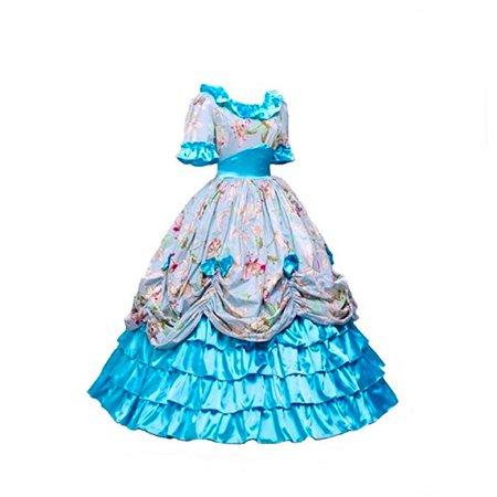 blue KEMAO Women's Victorian Rococo Dress Inspiration Maiden Costume: Clothing