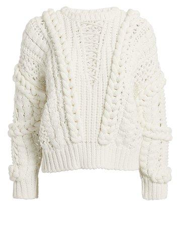 Fresh Lace-Up Sweater