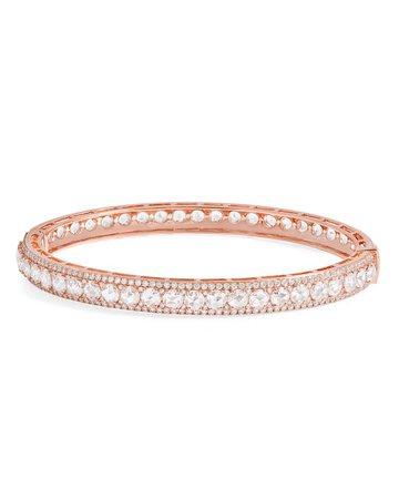 64 Facets 18K Rose Gold Linear Hinged Diamond Bracelet | Neiman Marcus