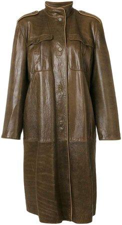 Pre-Owned high neck midi coat