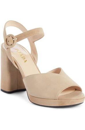 Prada Platform Sandal (Women) (Nordstrom Exclusive)   Nordstrom