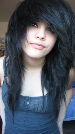 Emo Girl with Black Hair